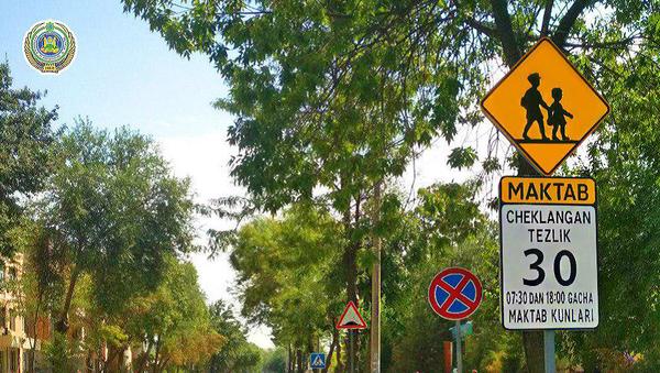 В Ташкенте установили необычный дорожный знак - Sputnik Ўзбекистон