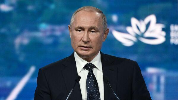 Президент РФ В. Путин принял участие в работе Восточного экономического форума - Sputnik Узбекистан