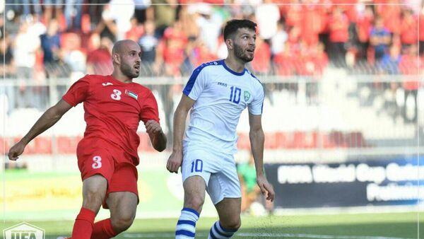 Матч между сборными Узбекистана и Палестины по футболу - Sputnik Узбекистан