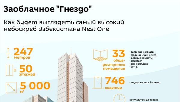 Проект небоскреба Nest One в Ташкенте - Sputnik Узбекистан