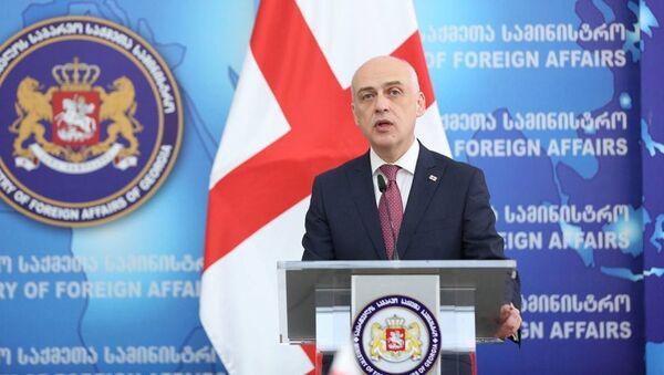 Министр иностранных дел Грузии Давид Залкалиани - Sputnik Ўзбекистон