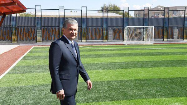 Glava Respubliki Uzbekistan Shavkat Mirziyoyev 10 sentyabrya posetil prezidentskuyu shkolu v Tashkente - Sputnik Oʻzbekiston