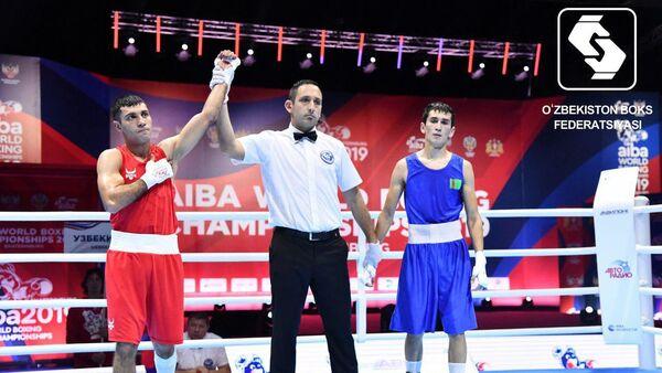 Шахобидин Зиров на чемпионате мира по боксу в Екатеринбурге - Sputnik Ўзбекистон