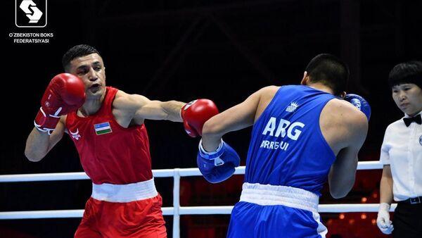 Батуров Бобоусмон одержал убедительную победу над Арегуи Бриан Агустином из Аргентины. - Sputnik Узбекистан