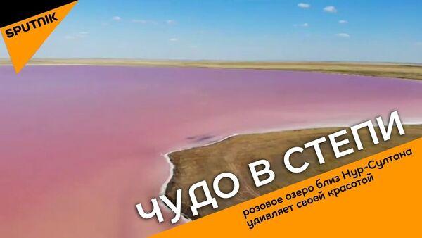 Chudo v stepi: ozero bliz Nur-Sultana menyayet tsveta - Sputnik Oʻzbekiston