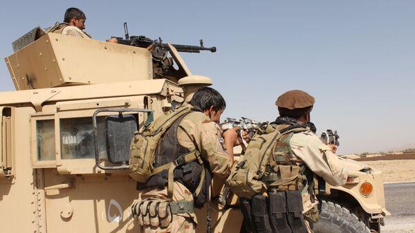 Военнослужащие афганских сил безопасности  - Sputnik Ўзбекистон