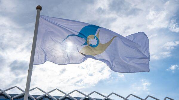 Флаг с символикой Евразийского экономического союза (ЕАЭС) - Sputnik Узбекистан