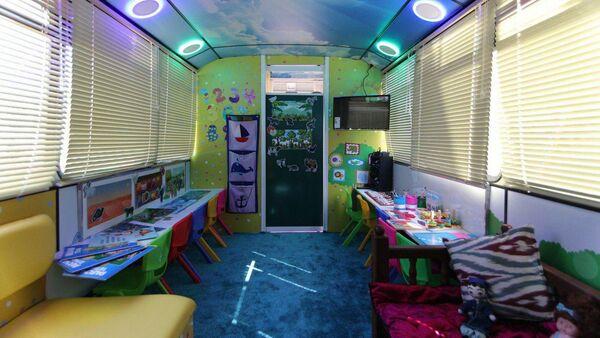 Министерство дошкольного образования презентовало детские сады на колесах - Sputnik Узбекистан