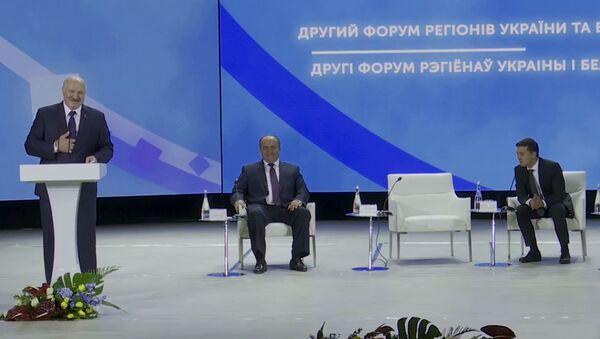 Zelenskiy napugal Lukashenko na vstreche v Jitomire - video - Sputnik Oʻzbekiston