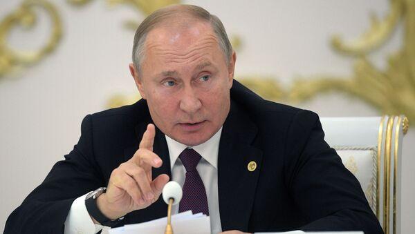 Президент России Владимир Путин на заседании Совета глав государств Содружества Независимых Государств - Sputnik Ўзбекистон