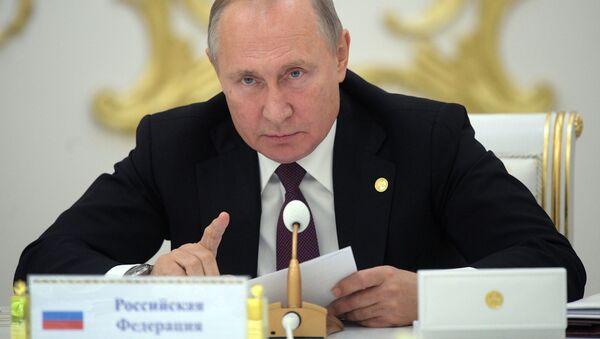 Визит президента РФ В. Путина в Туркмению - Sputnik Ўзбекистон