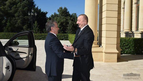 Мирзиёев встретился с президентом Азербайджана - Sputnik Узбекистан
