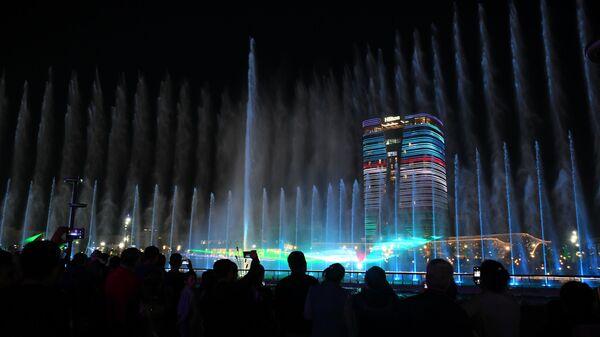 Главная фишка парка - гигантский танцующий фонтан в центре Ташкент-Сити - Sputnik Узбекистан