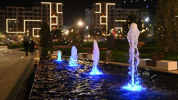 Изобилие различных фонтанов на территории Ташкент-Сити - Sputnik Узбекистан