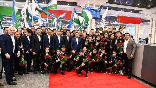 Vstrecha yuniorskoy sbornoy Uzbekistana po boksu - Sputnik Oʻzbekiston