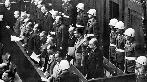 Нюрнбергский процесс (20 ноября 1945 г. - 1 октября 1946 г.). Международный военный трибунал над бывшими руководителями гитлеровской Германии. Здание Нюрнбергского Дворца юстиции. - Sputnik Узбекистан