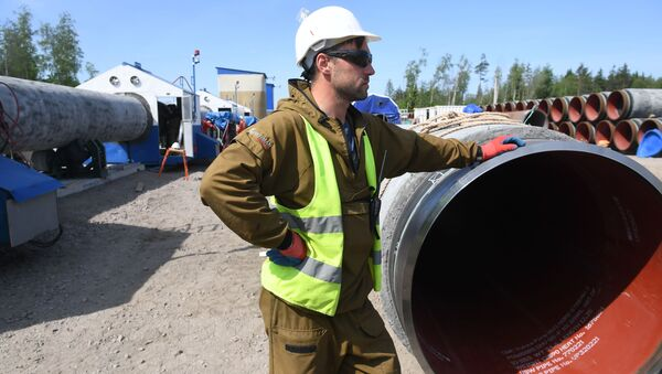Строительство газопровода Северный поток-2 в Ленинградской области - Sputnik Ўзбекистон