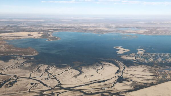 Вид на Аральское море с высоты - Sputnik Узбекистан