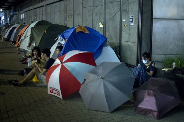 Гонконгда Occupy Central норозилик намойишлари - Sputnik Ўзбекистон