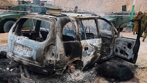 Кадры с места нападения на погранзаставу на таджикско-узбекской границе - Sputnik Ўзбекистон