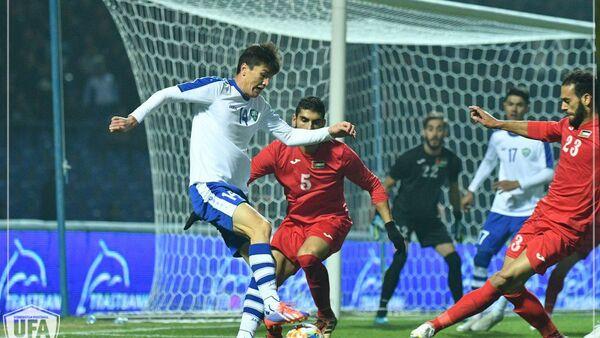 Матч отборочного турнира ЧМ-2022 по футболу Узбекистан-Палестина - Sputnik Узбекистан