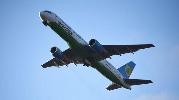Самолет Boeing 757-231 авиакомпании Uzbekistan Airways в международном аэропорту Внуково имени А. Н. Туполева. - Sputnik Узбекистан