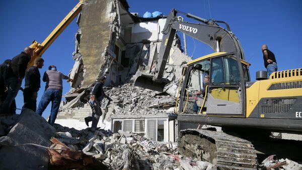 Последствия землетрясения в Албании - Sputnik Узбекистан
