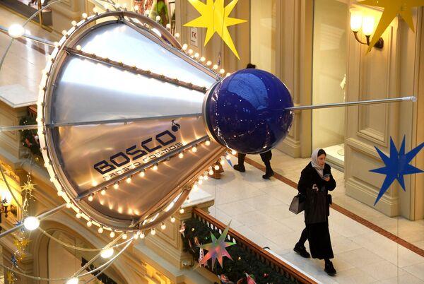 Новогоднее украшение ГУМа - Sputnik Узбекистан