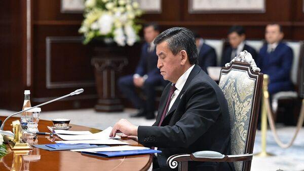 Президент Кыргызской Республики Сооронбай Жээнбеков - Sputnik Ўзбекистон