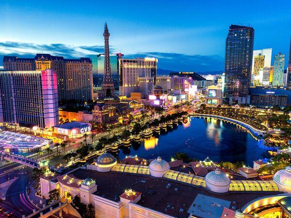 An aerial view on Las Vegas, the United States - Sputnik Ўзбекистон