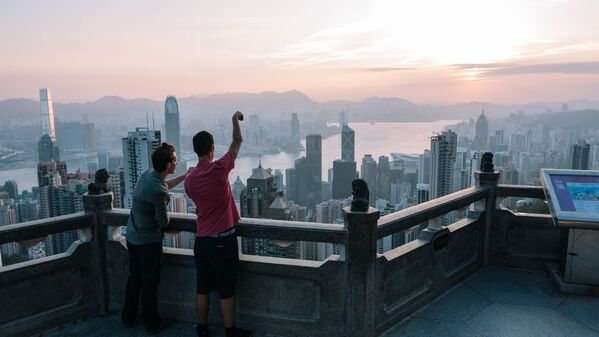 A view from an observation point in Hong Kong - Sputnik Ўзбекистон