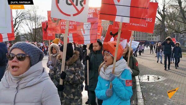 Защитники животных оккупировали центр Риги - Sputnik Узбекистан