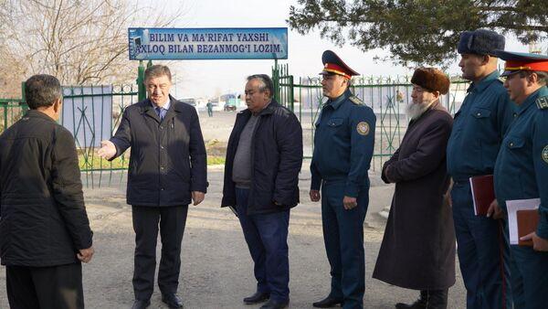 МВД РУ на выезде в Сырдарью - Sputnik Узбекистан