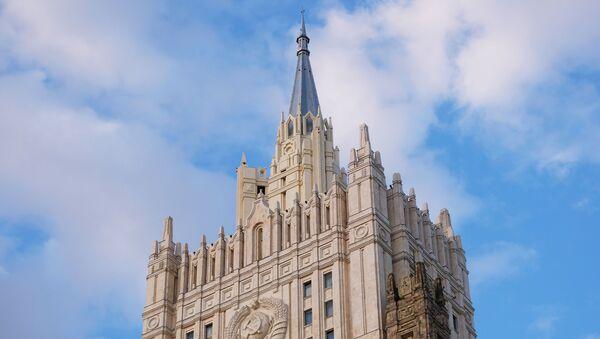 Здание Министерства иностранных дел РФ на Смоленской-Сенной площади в Москве - Sputnik Узбекистан