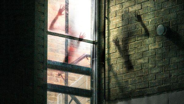 Тени от женских рук на стене здания - Sputnik Узбекистан