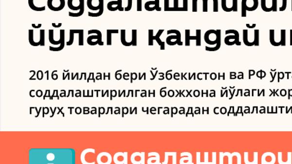 Россия-Ўзбекистон соддалаштирилган божхона йўлаги - Sputnik Ўзбекистон