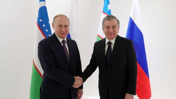 Prezident RF Vladimir Putin i prezident Uzbekistana Shavkat Mirziyeyev  - Sputnik Oʻzbekiston
