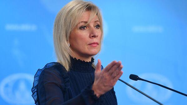 Официальный представитель Министерства иностранных дел России Мария Захарова - Sputnik Ўзбекистон