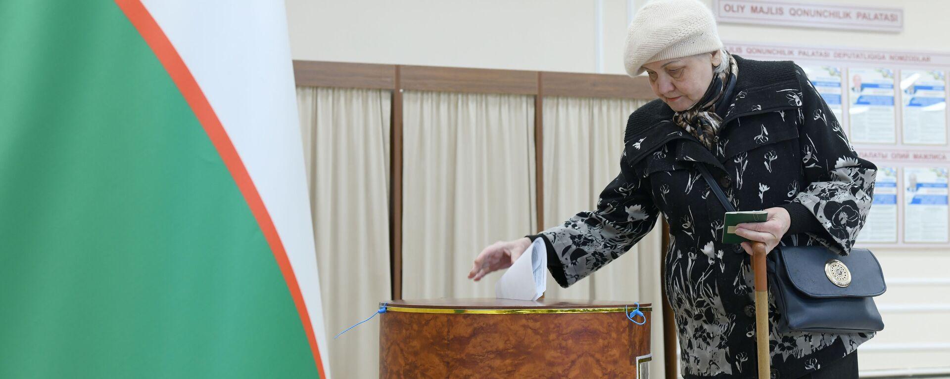 Golosovaniye na parlamentskix vыborax v Uzbekistane - Sputnik Oʻzbekiston, 1920, 06.09.2021
