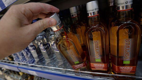 Бутылки с алкогольной продукцией - Sputnik Ўзбекистон