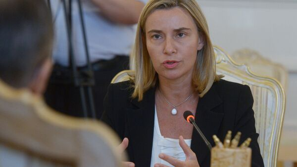 Представитель ЕС по вопросам безопасности Федерика Могерини - Sputnik Узбекистан