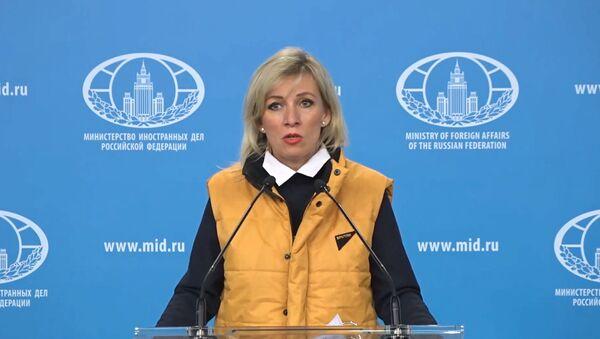 Mariya Zaxarova podderjala aktsiyu protiv presledovaniya jurnalistov Sputnik Estoniya - Sputnik Oʻzbekiston