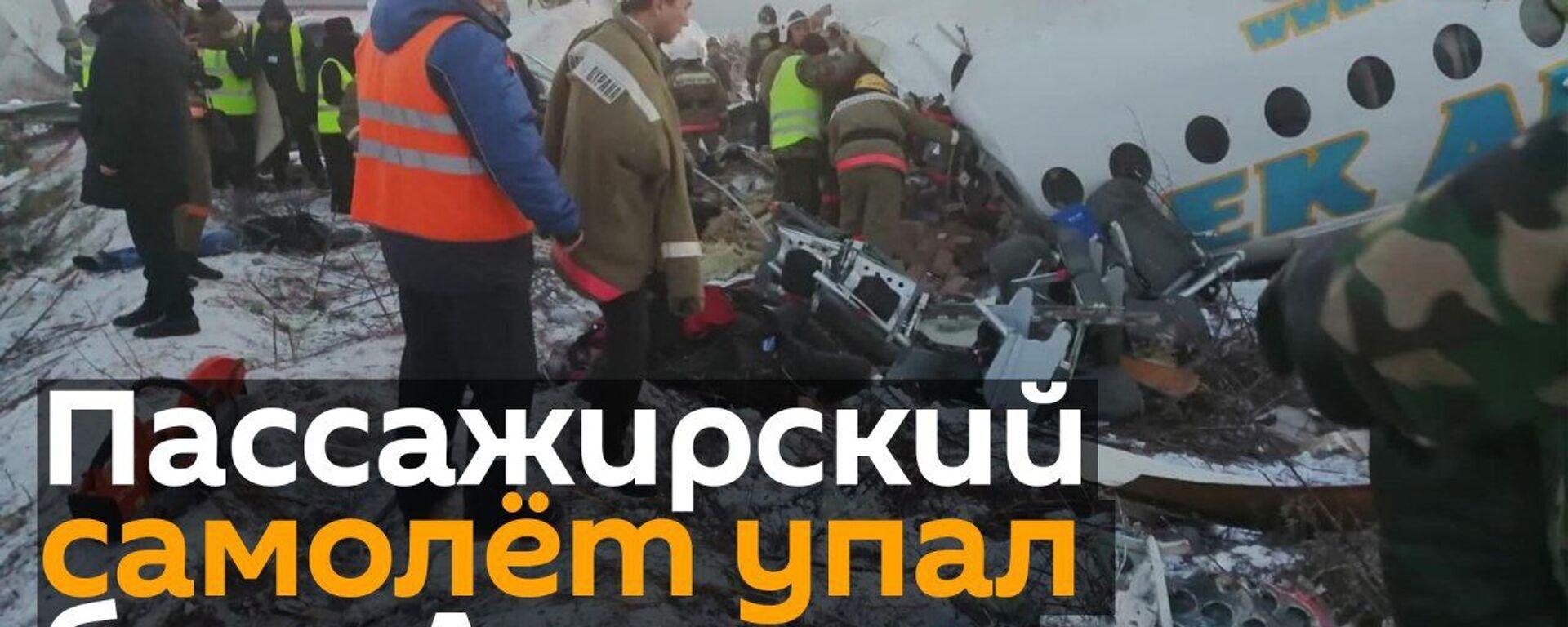 Пассажирский самолет рухнул в Алматы: 14 человек погибли - Sputnik Узбекистан, 1920, 27.12.2019