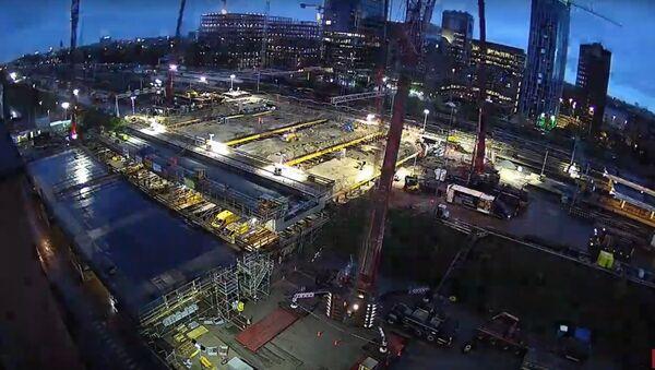 В Амстердаме за три дня построили тоннель под железнодорожной станцией - Sputnik Узбекистан