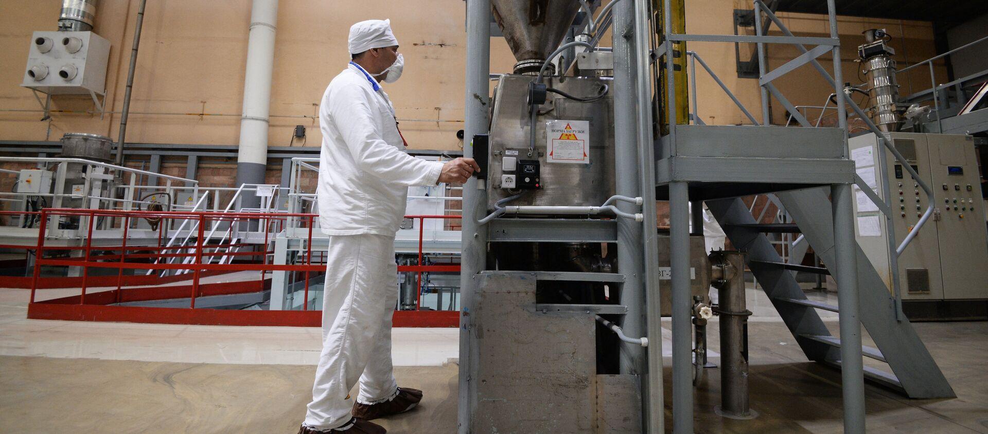 Uchastok izgotovleniya toplivnыx tabletok dioksida urana - Sputnik Oʻzbekiston, 1920, 17.03.2018