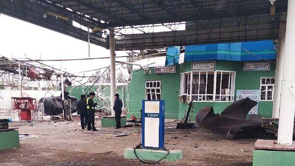 Взрыв на газозаправочной станции в Джизаке. - Sputnik Узбекистан