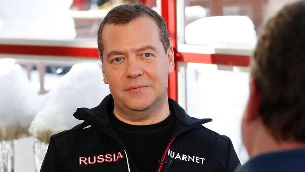 Заместитель председателя Совета безопасности РФ Дмитрий Медведев во время интервью Первому каналу, 18 января 2020 года. - Sputnik Узбекистан