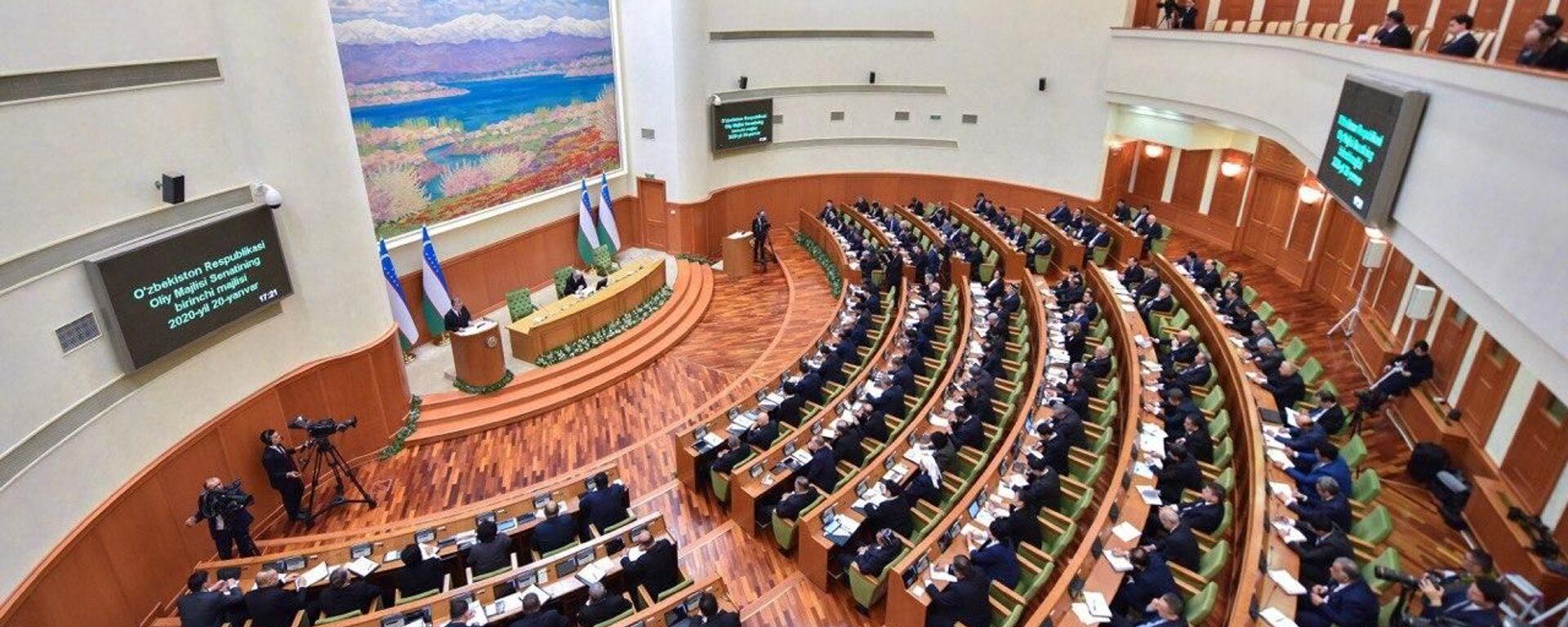 Заседание Сената Олий Мажлиса - Sputnik Ўзбекистон, 1920, 19.08.2021