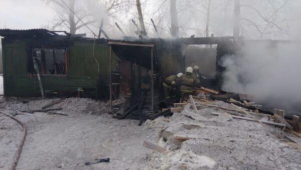 Пожар в Томской области - Sputnik Ўзбекистон