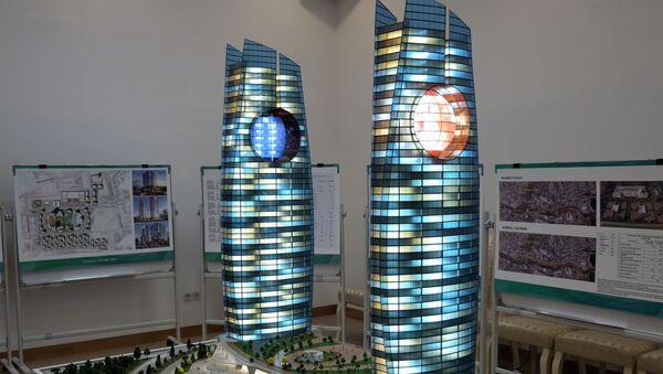 Макет небоскребов в Яккасарайском районе Ташкента  - Sputnik Ўзбекистон